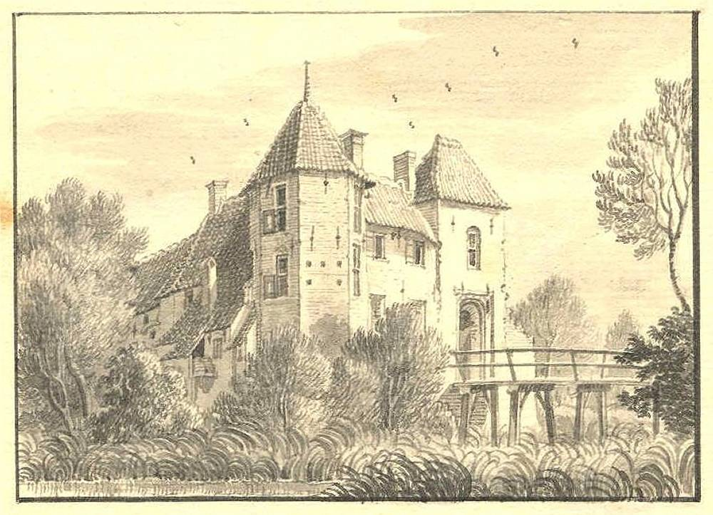 De Wildt in Gendringen. Tekening Jan de Beijer, 1743